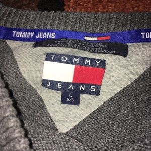 Tommy Hilfiger Sweaters - Vintage Tommy jeans flag sleeve sweater